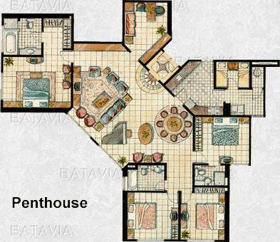 Penthouse floorplans house plans - Lay outs penthouse ...